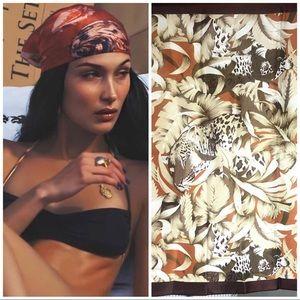 Vintage Twill Scarf/Wrap/Bandana in leopard
